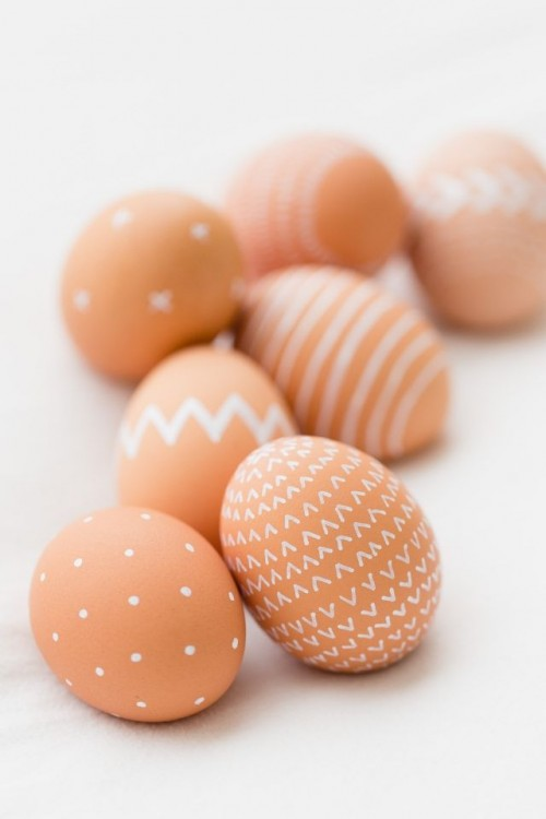 How To Decorate Natural Brown Easter Eggs