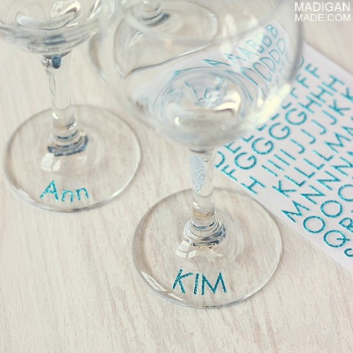 glitter drink markers (via madiganmade)