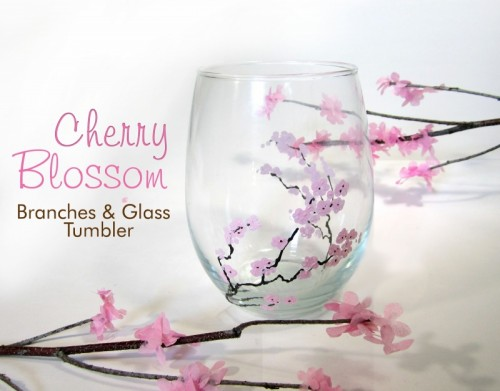 cherry blossom branches glass (via 365designs)