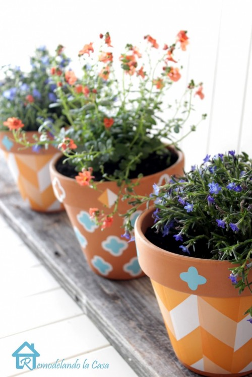 How To Decorate Planters With Self-Adhesive Shelf Liner