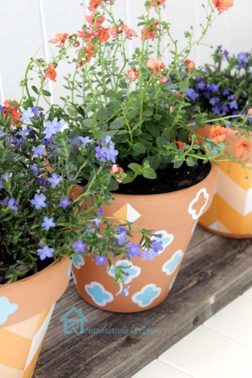 How To Decorate Planters With Self Adhesive Shelf Liner
