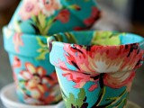 How To Decorate Pots Using Fabric | Shelterness