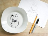 How To Decorate Some Tableware For Your Kids