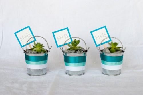 How To Decorate Succulent Pails