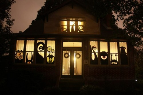 monsters would welcome your guests with style - Halloween Window
