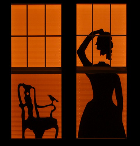window decoration idea for halloween decapitated person silhouette is a strong and spooky choice - Halloween Window Decoration