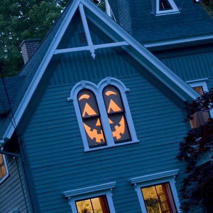 Turning the whole window into a jack-o-lantern isn't that hard!