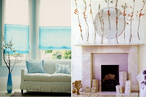 picture of how to decorate your home with branches in vases decorating your home with a nautical theme