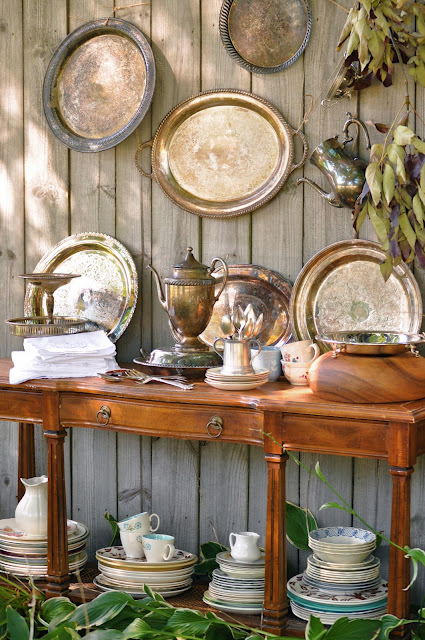 Dining Hutch Decor Display