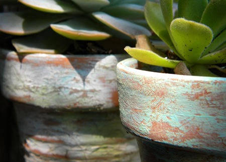 How To Distress Terra Cotta Planters