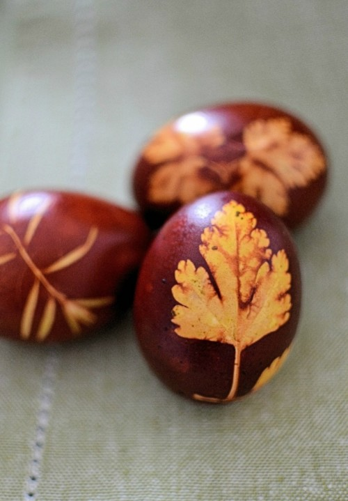How To Dye Easter Eggs Using Onion Skins And Leaves