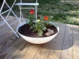 flower pot of a ceiling lamp