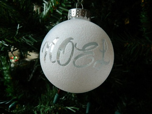 How To Mak Christmas Tree Ornaments With Letters