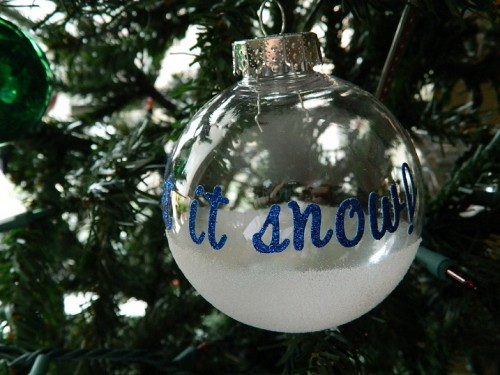 How To Make Christmas Tree Ornaments With Letters - Shelterness
