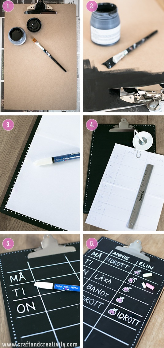 How To Make A Chalkboard Clipboard