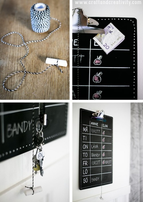 How To Make A Chalkboard Clipboard - Shelterness