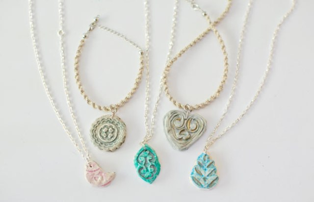How To Make A Clay Pendant Necklace