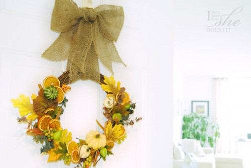 How To Make A Fall Gifts Door Wreath