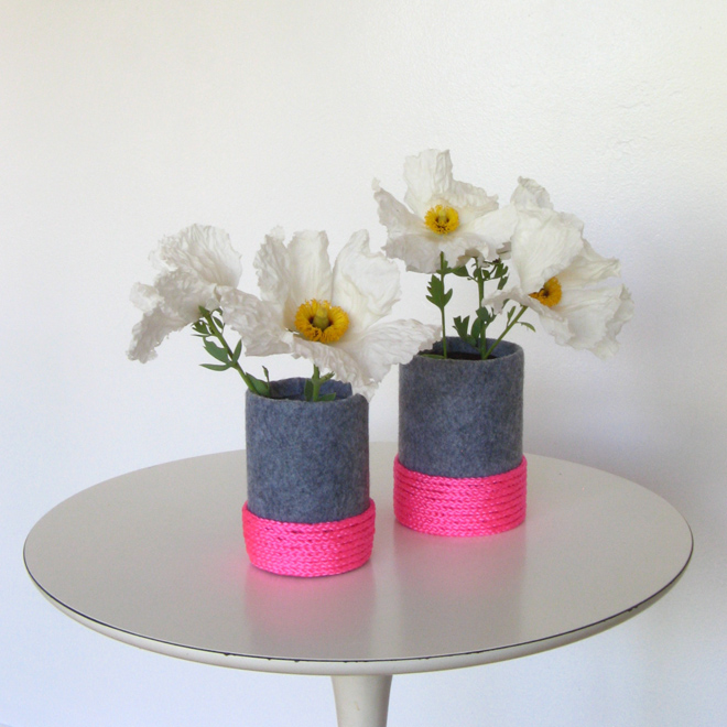 How To Make A Felt Neon Vase