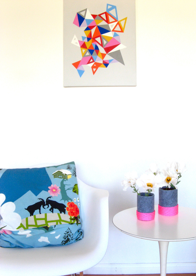 How To Make A Felt Neon Vase