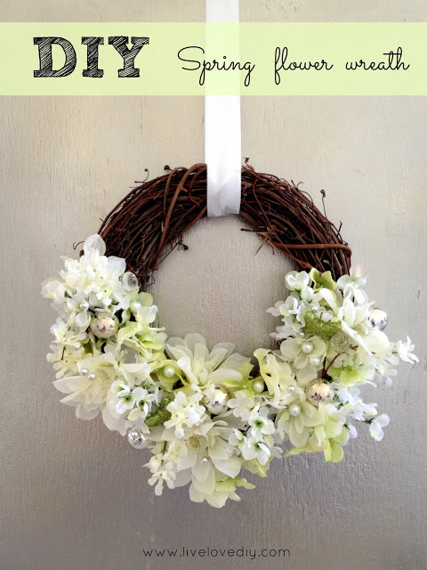 How To Make A Glam Spring Flower Wreath