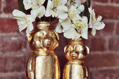 How To Make A Gold Honey Bear Vase