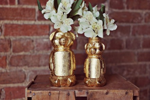 How To Make A Gold Honey Bear Vase