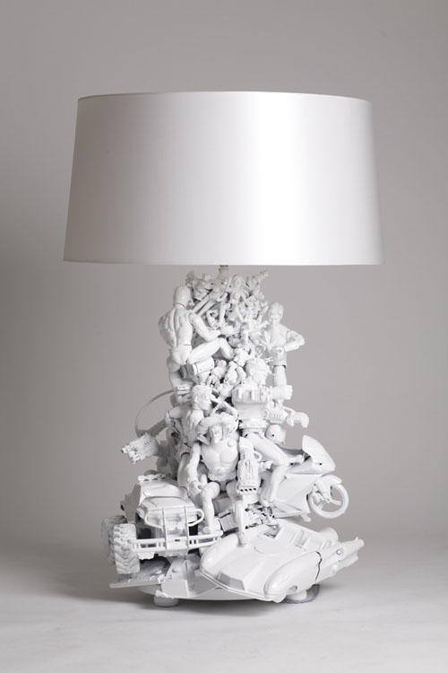 DIY Tabletop Lamp From Old Toys