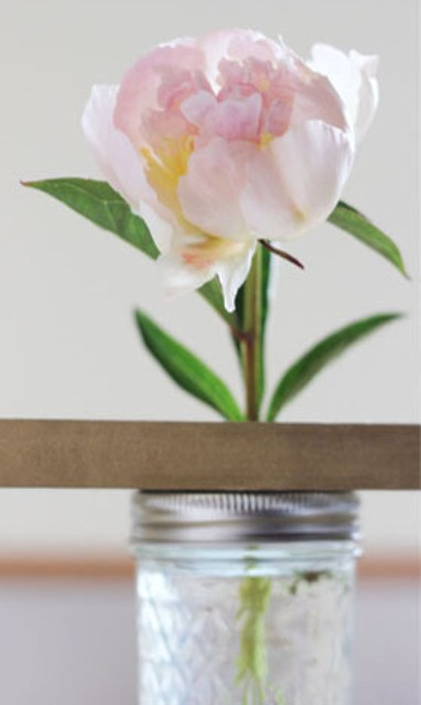 How To Make A Mason Jar Flower Shelf