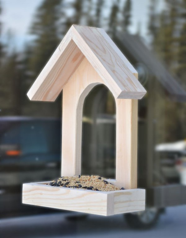 picture of how to make a simple bird feeder