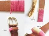 How To Make A Thread Wrapped Belt