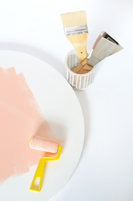 Picture Of how to make abstract art with a paint scraper  4