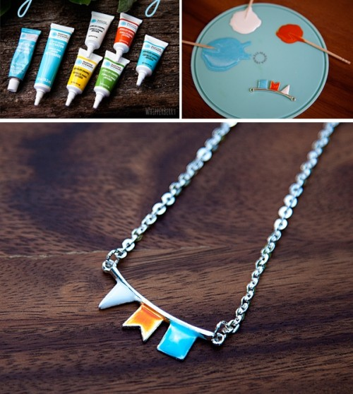 How To Make Aflower Necklace Of Epoxy Clay