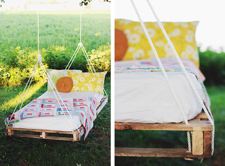 How To Make An Outdoor Pallet Swing Bed
