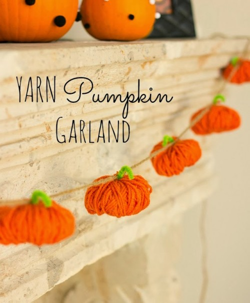 How To Make A Yarn Pumpkin Garland