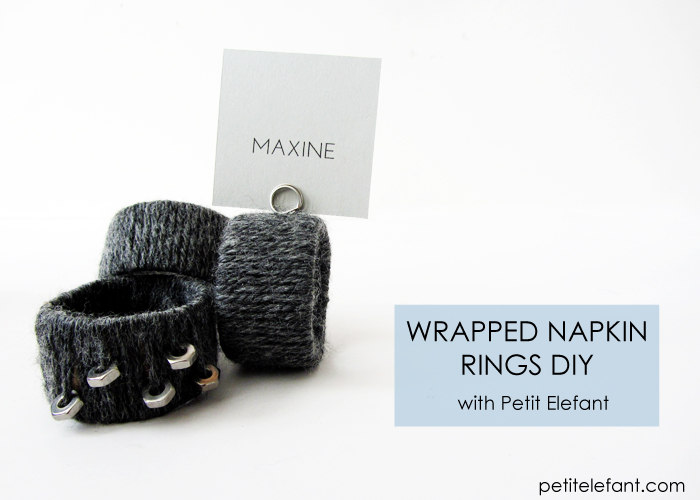 How To Make Cozy Yarn Napkin Rings