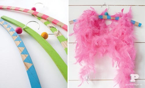How To Make Colorful DIY Clothes Hangers