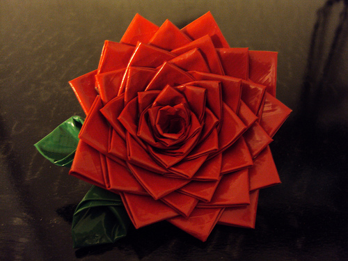 How to make duct tape roses 2