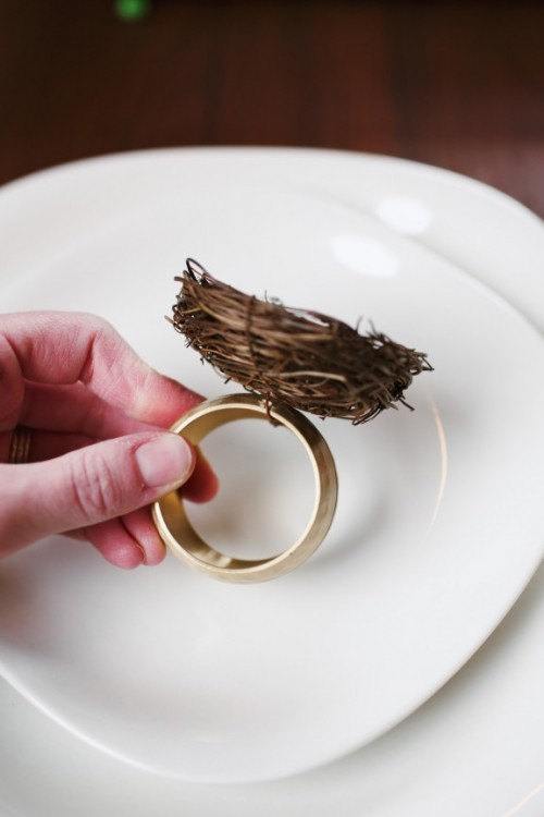 How To Make Easter Nest Napkin Rings