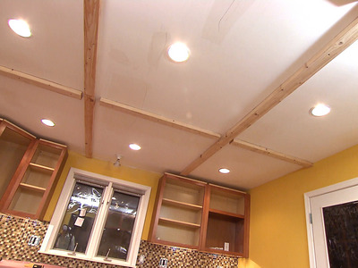 faux ceiling beams (via diynetwork)