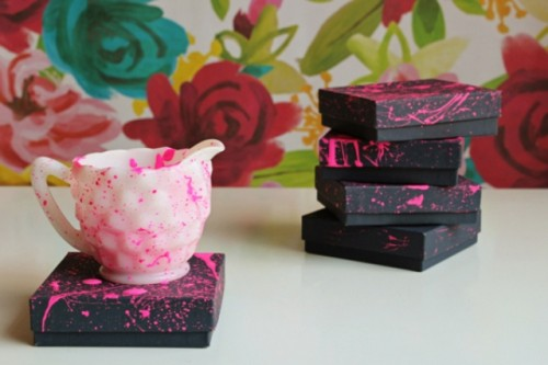How To Make Neon Pink Gift Boxes