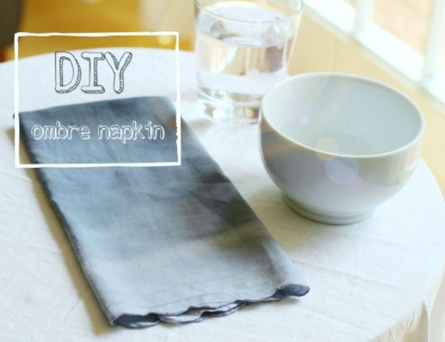 How To Make Ombre Napkins Easily