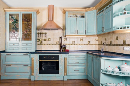 How To Renovate Kitchen Cabinets In Provence Style