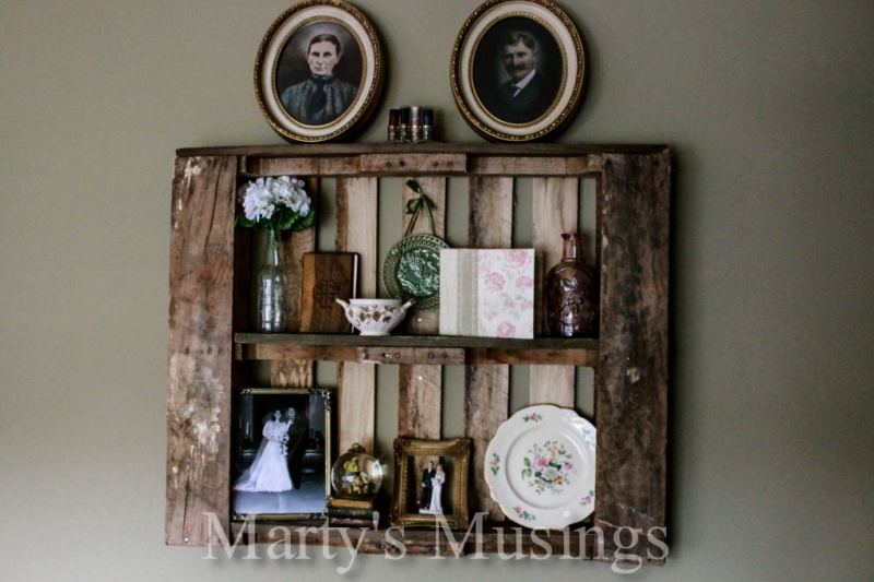 how to make shabby chic pallet shelves shelterness