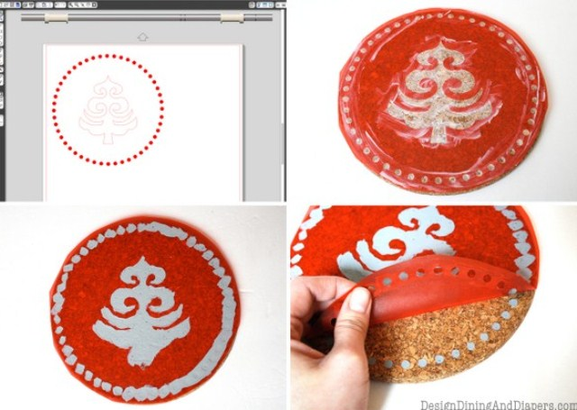 How To Make Simple Christmas Trivets