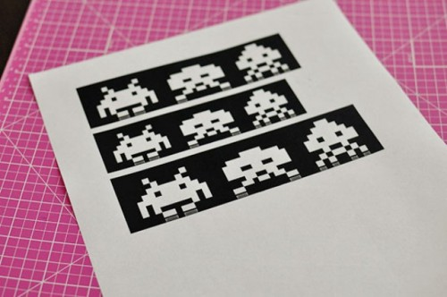How To Make Space Invaders Ornaments