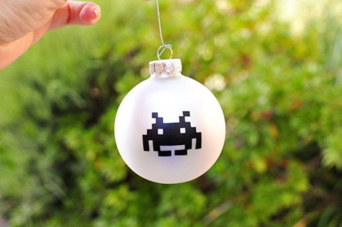 How To Make Space Invaders Christmas Tree Ornaments