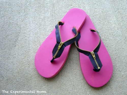 How To Make Zipper Flip Flops