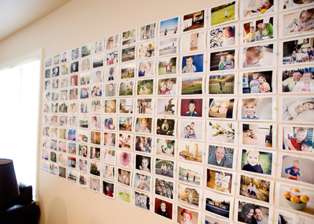 How To Organize A Simple And Cheap Family Photo Wall