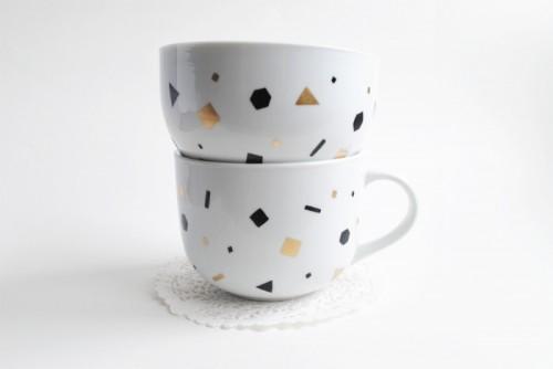 confetti glassware (via feathersofgold)